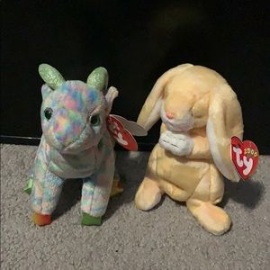 RARE FIND-Ty Beanie Babies Grace & Goat